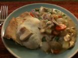 Chicken pot pie - home made