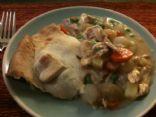 Chicken pot pie - home made