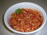 Chicken and tomato sauce pasta
