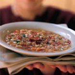 WHITE BEAN SOUP WITH SMOKE SALMON AND CHIVES
