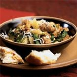 Sausage, Spinach, and White Bean Ragout