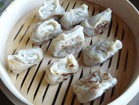 Vegetable Dumplings with Crab and Shrimp