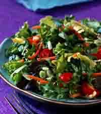 Sweet-Sour Turnip green Salad