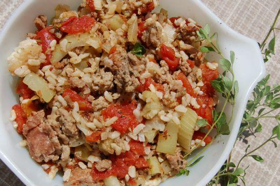 turkey rice  tomato