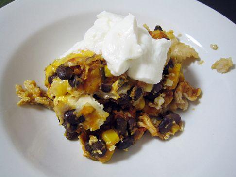 Chicken, Black Bean & Kabocha Casserole