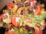 Healthified White Trash Taco Salad