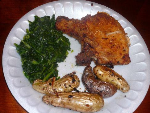 Oven fried pork chops