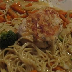 chicken vegetables and pasta