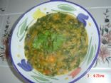 Spinach 'n lentils soup