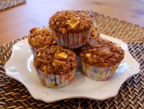 Apple-Oat-Walnut-Flax Muffins