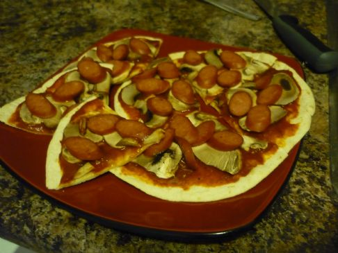 Tortilla Pizza (low cal)