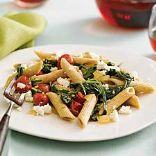 Quick Penne with Spinach and Feta