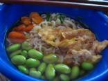 Vegetarian Japanese ramen bowl