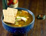 Mock Chicken Tortilla Soup with Tofu