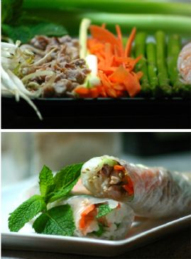 Chicken & Cabbage Spring Rolls