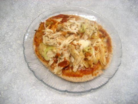 Mex Chicken Pita Pizza