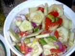 Chunky Garden Veggie Salad