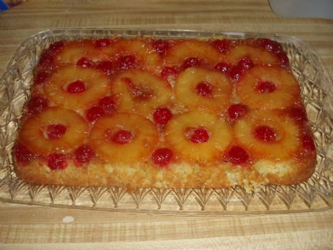 Pinapple upside down cake (healthy)