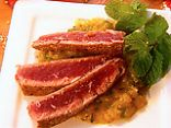seared tuna with mango salsa