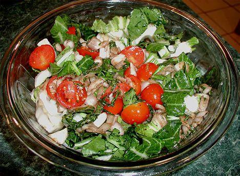 Tomato and Bok Choy Salad