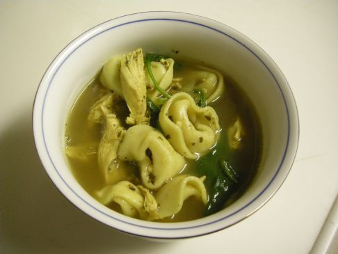 Audri's Curry Chicken Tortellini Soup