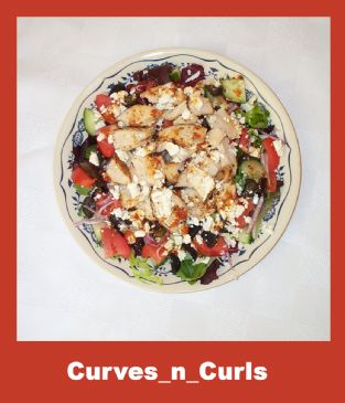 Greek-esque Chicken Feta Salad