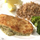 Cream cheese and pesto stuffed Chicken Breasts