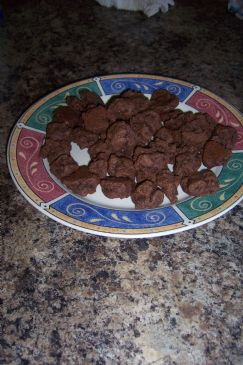 mini chocolate pumpkin cookies