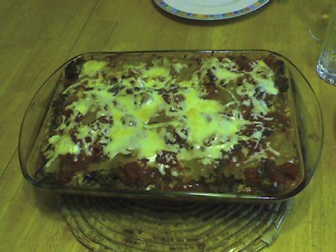 Spinach, Mushroom, and Sausage Lasagna