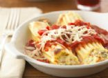 Healthified Three-Cheese Manicotti