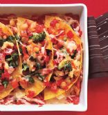 Cheesy Bean Enchilada Bake