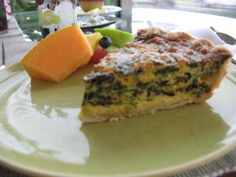 Rachel's Spinach & Mushroom Quiche