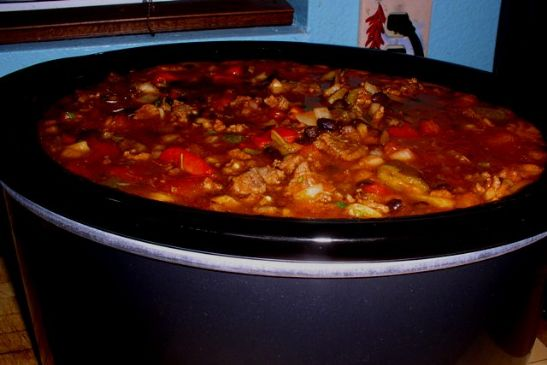 Southwestern Pork, Beef & Black Bean Chili
