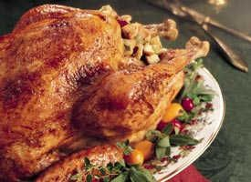 Glazed Roast Turkey with Cranberry Stuffing