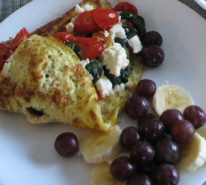 Spinach, Tomato and Feta Omelet