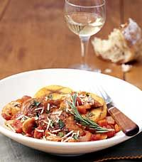 Chicken Cacciatore with Angel Hair Pasta