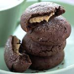 Chocolate Peanut Butter-filled Cookies