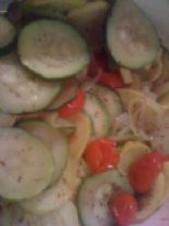 Squash Zucchini Onion Garlic Bake