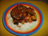 Italian Eggplant & Mushroom Bake with White Rice
