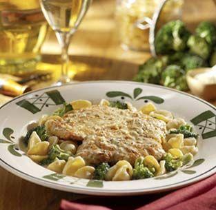 Lemon Chicken Scallopini Pasta Con Broccoli Mock Olive Garden Recipe Sparkrecipes