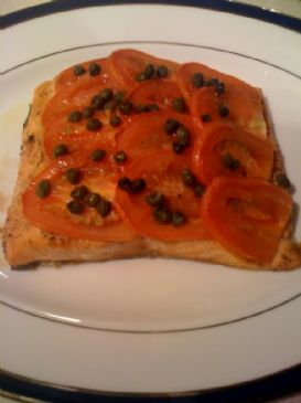 Baked Salmon with Tomatoes and Capers for Two