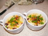 Baked Potato soup (recipe from BJ's magazine)