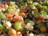 greek-ish chickpea salad