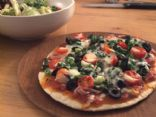 Thin Crust Spinach Pizza