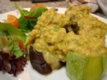 Stuffed Zucchini & eggplant w pork minced curry