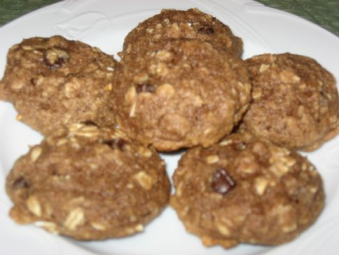 Banana Oatmeal Almond Cookies