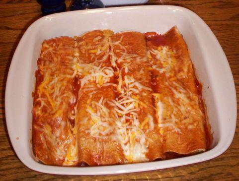 JASONZ's Cheesy Chicken Enchiladas