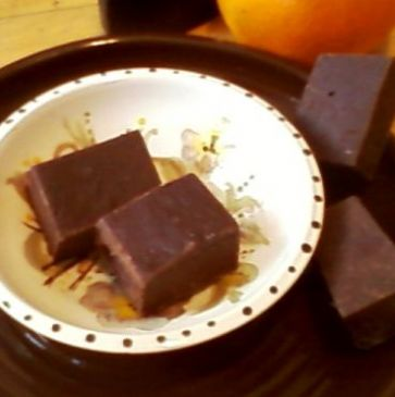 Almond Orange Low Fat Fudge