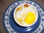 Baked egg & spinach
