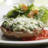 Parmesan and Spinach Stuffed Portobello Mushrooms